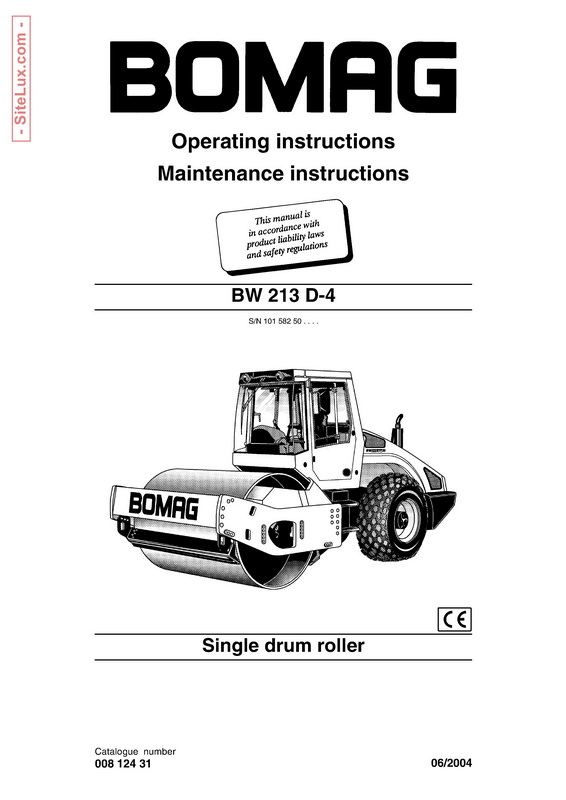 Bomag BW 213 D-4 Single Drum Roller Operation