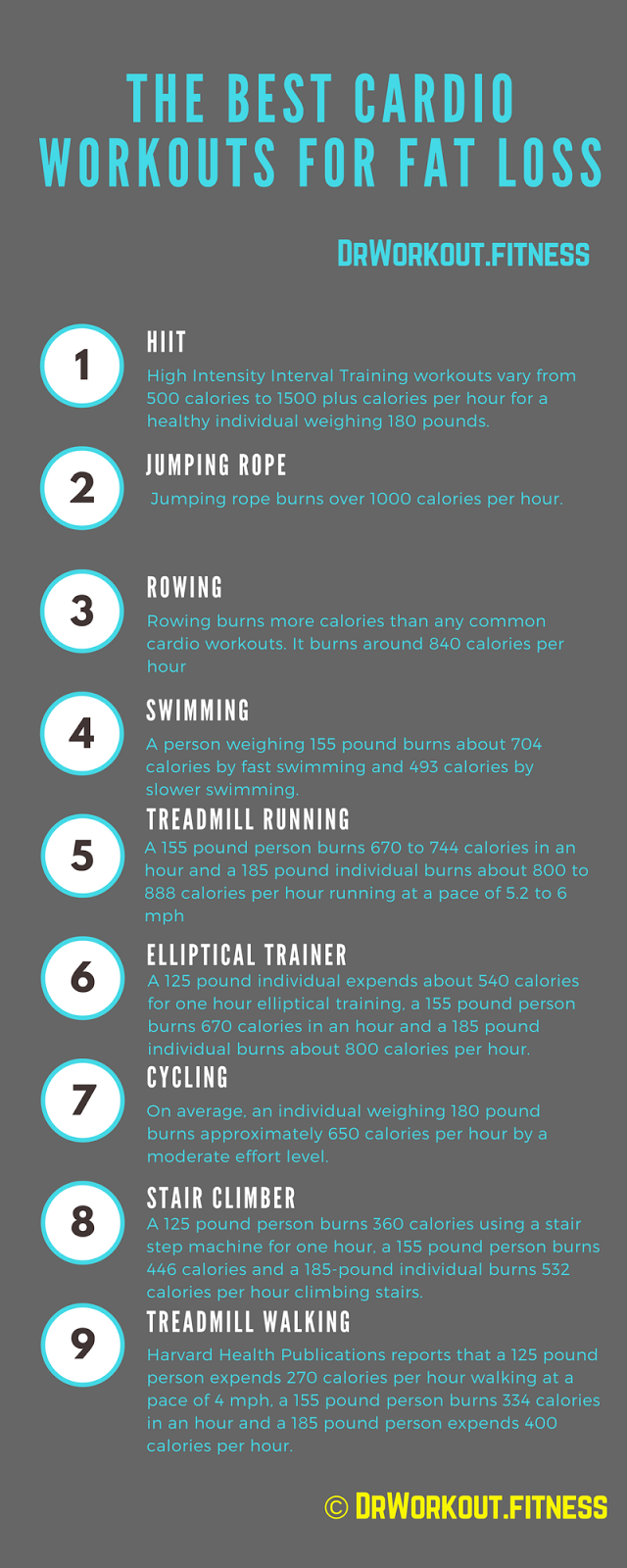 Best Cardio Workouts and Calories Burned