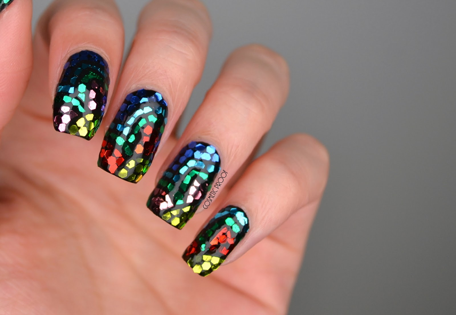 NAILS | BCD NAIL ART Challenge Week 4 - Mosaic Stained Glass Flowers ...