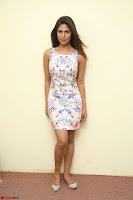 Nishi Ganda stunning cute in Flower Print short dress at Tick Tack Movie Press Meet March 2017 072.JPG