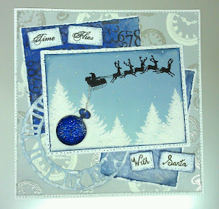 Visible Image stamp santa sleigh time