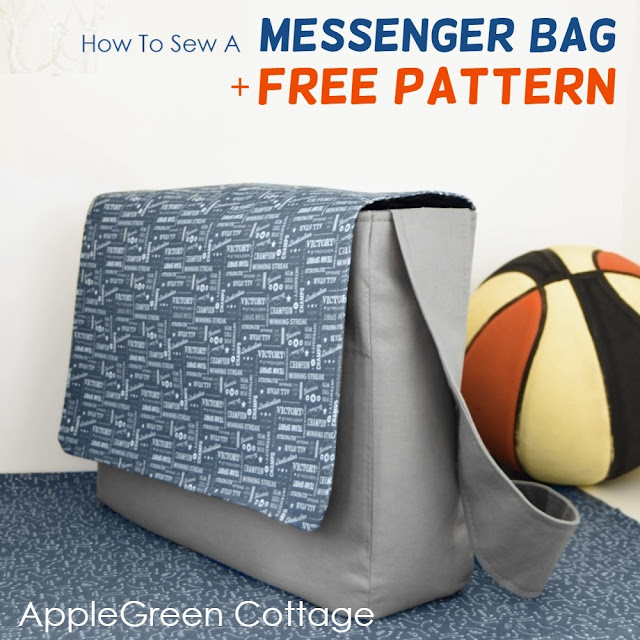 Messenger bag pattern - free sewing pattern