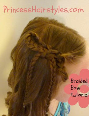 braided bow hairstyle - hairstyles