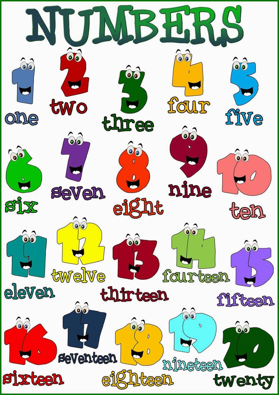 English Bud S Esl Numbers 1 20