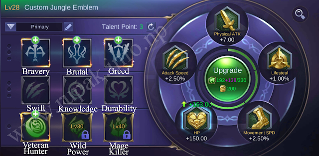 Mobile Legends Custom Jungle Emblem Details