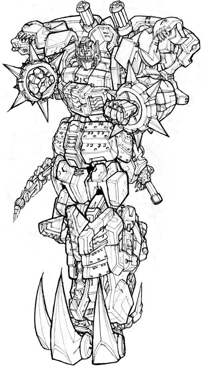 Waylander Dino Madness Grimlock Design Study