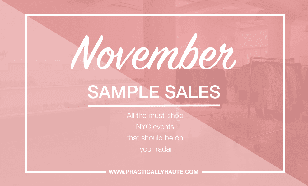 nyc november sample sale