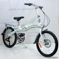 3 Sepeda Lipat FORWARD Rangka Aloi dengan Rem Cakram 20 Inci