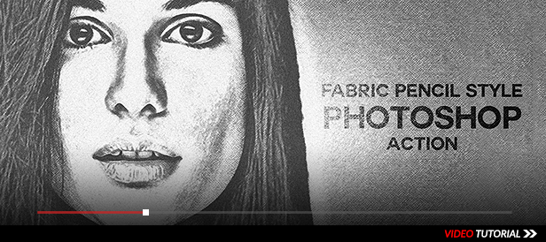 Fabric Pencil Sketch Photoshop Action