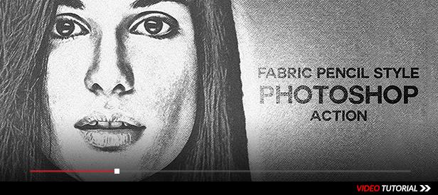 Fabric Pencil Sketch Photoshop Action