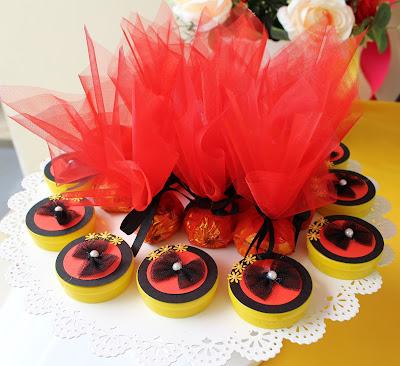 Latinha festa de aniversário tema minnie vermelha