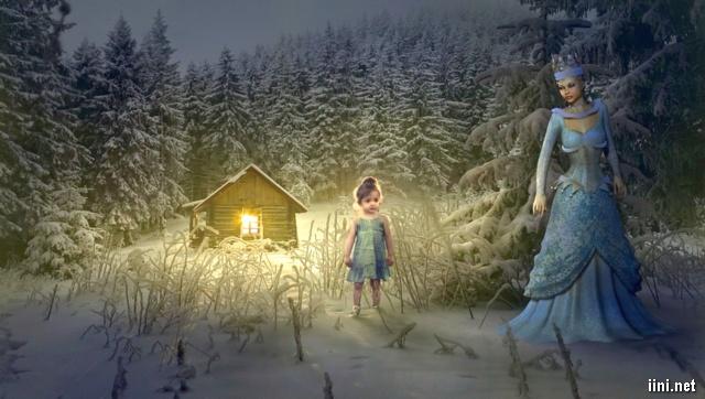 ảnh ngôi nhà mùa đông và công chúa tuyết