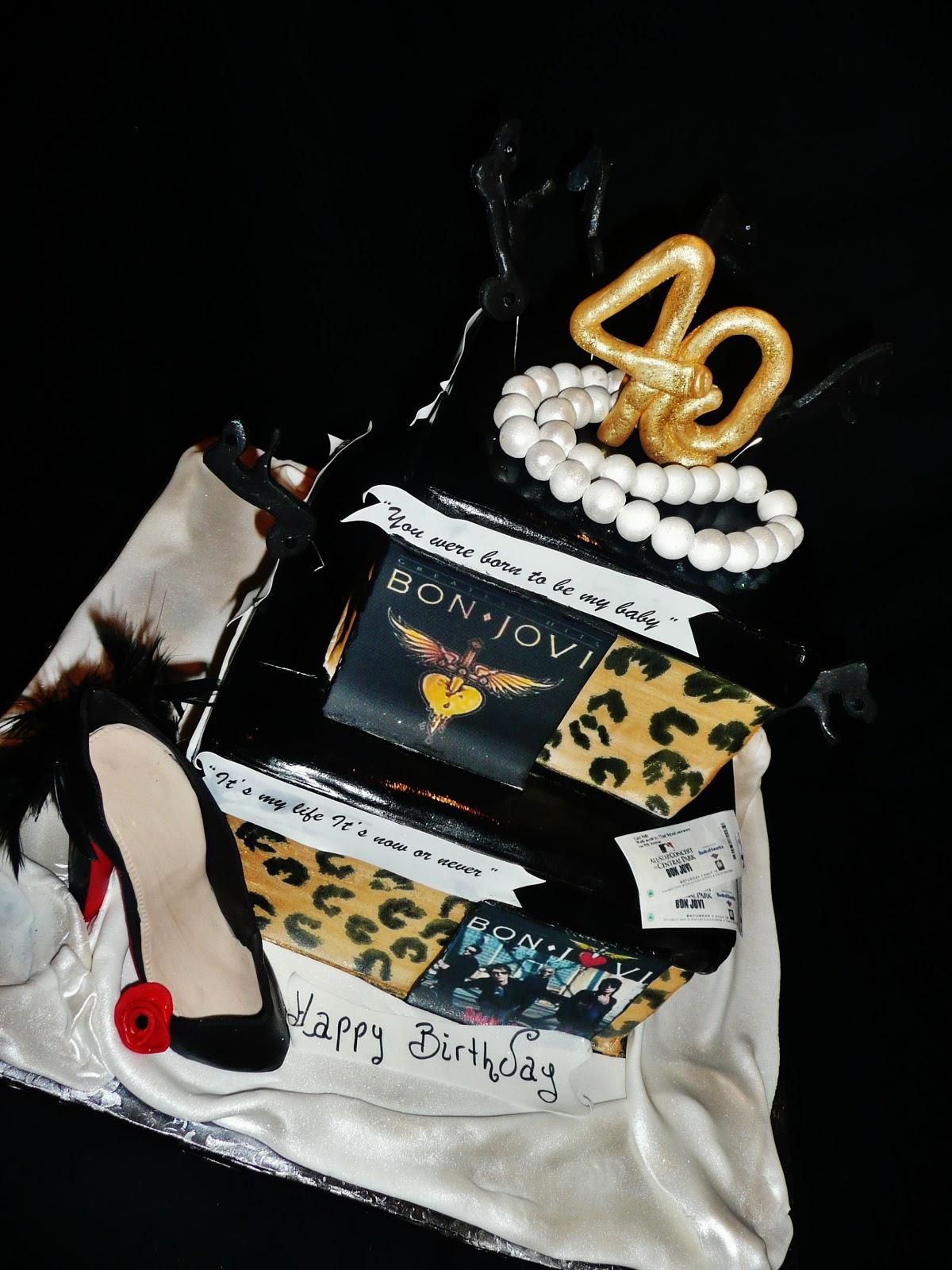 Baking With Roxana S Cakes Bon Jovi Birthday Cake