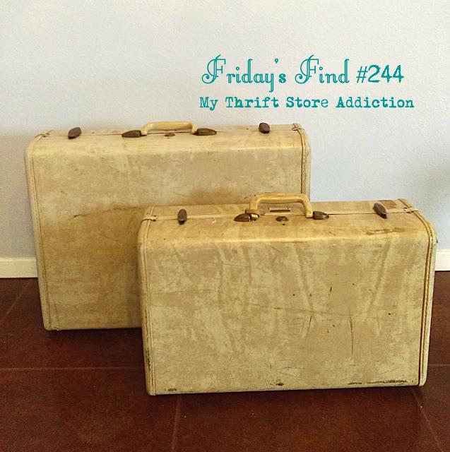 Vintage Samsonite Luggage As Decorative Storage