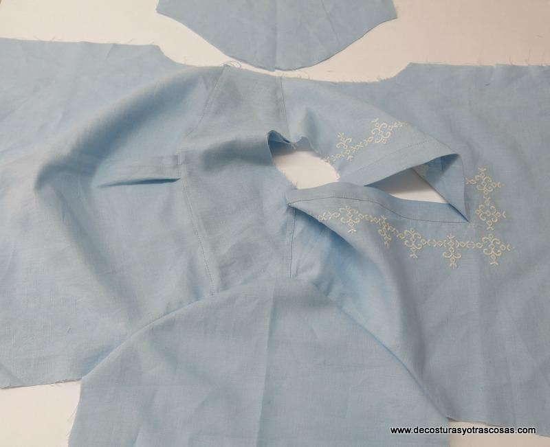 como colocar mangas en camisa
