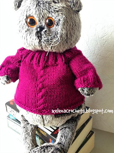 свитер для Басика спицами