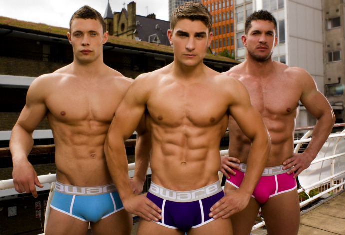 From left to right: Ryan Hopkins, Ryan Terry and Joel Hicks • Male Models