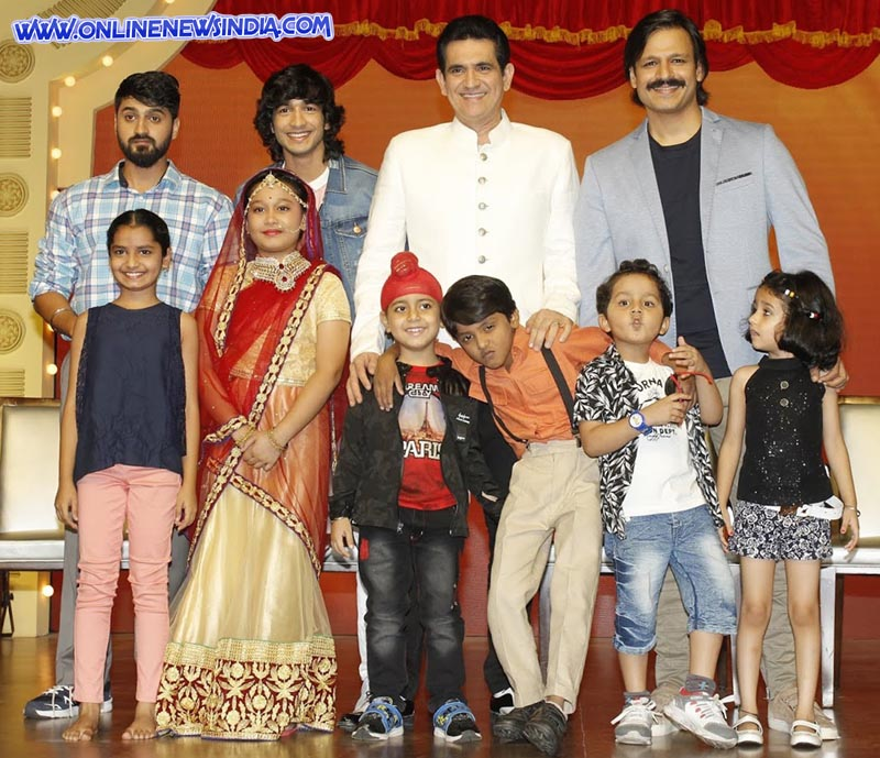 Veighnesh Pande, Shantanu Maheshwari, Omung Kumar and Vivek Oberoi at India's Best Dramebaaz Press Conference