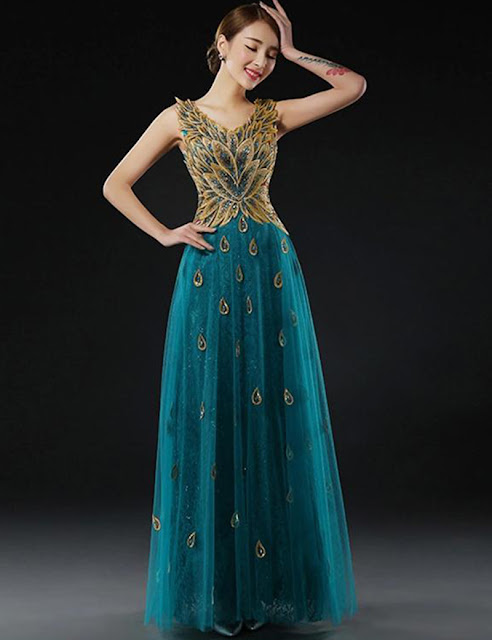 peacock Gown beautiful wedding new dresses pinterest