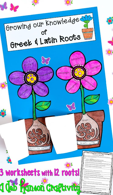 Make learning Greek and Latin ROOTS meaningful! After students complete the worksheets, the assemble the flowerpots. Words with common roots are written on the flower petals, and when you open the flower pot, the root and its meaning is revealed! Includes three worksheets!