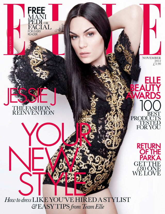 Jesse J Elle UK November 2012 cover Dolce Gabbana