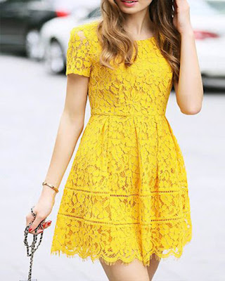 vestido formal amarillo casual
