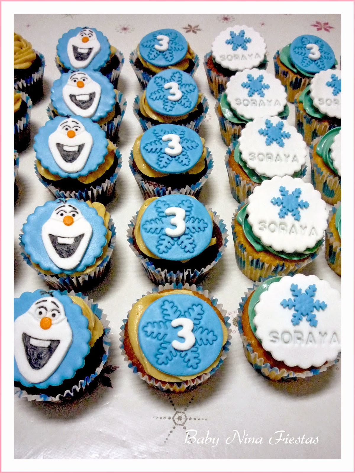 cupcakes frozen, olaf