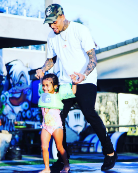 More photos from the 3rd birthday party of Chris Brown's daughter, Royalty
