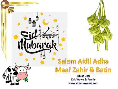 Salam Aidil Adha Dari Kak Wawa