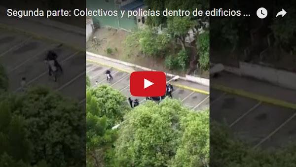 Policías terroristas llegaron a edificios del Táchira a causar el caos