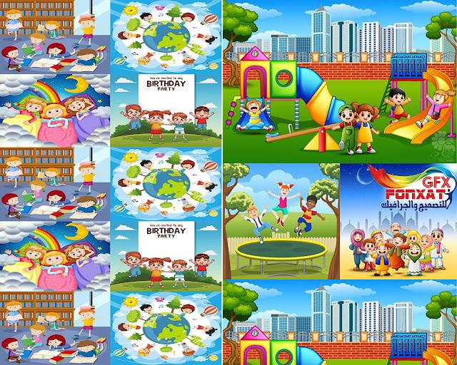 مجموعة من صور وتصميمات الكرتون للاطفال بجودة عالية