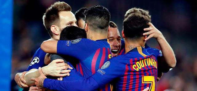 Messi marcó dos goles para cerrar el pase del Barcelona a los cuartos de final de la Champions