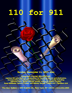 Poster for Jed Distler's '110 for 911' by Su Polo