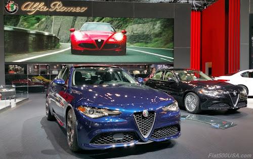 Alfa Romeo Giulia a the NY Auto Show