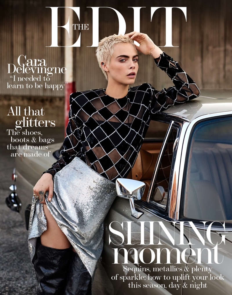 Cara Delevingne goes rebellious for The Edit