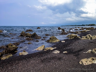 Natural Environment Of Rocky Shore At Umeanyar Beach, North Bali, Indonesia