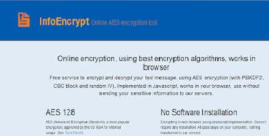 موقع تشفير الرسائل بكلمة سر قبل ارسالها