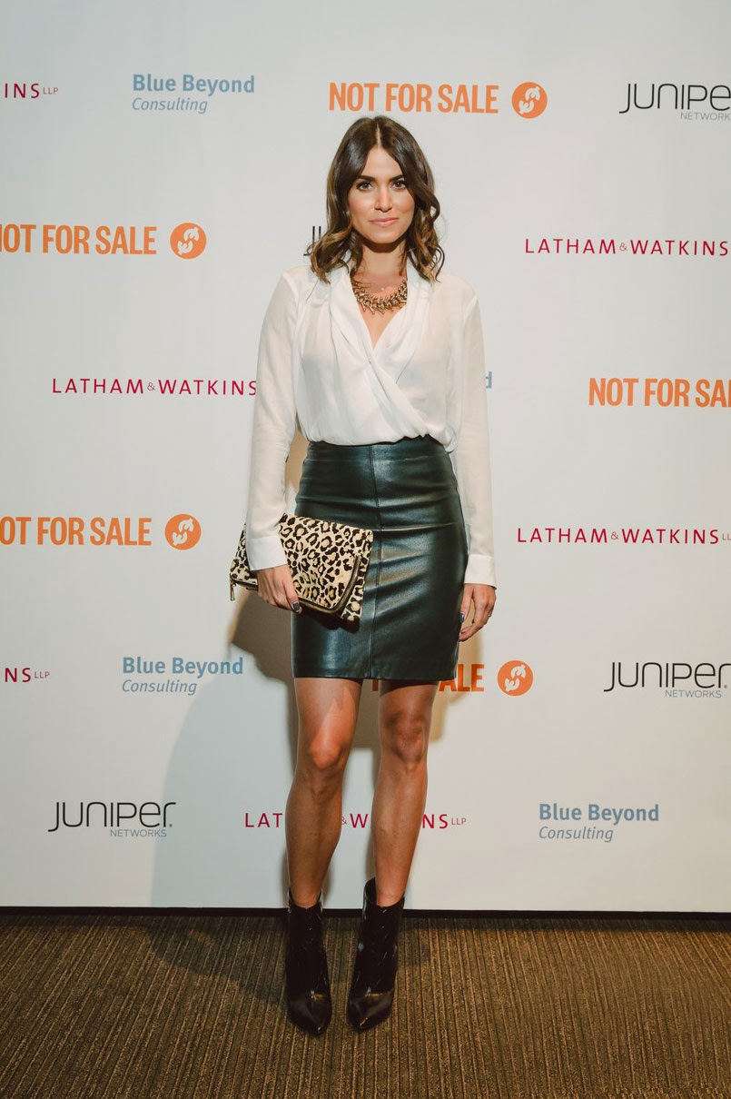 Lovely Ladies In Leather Nikki Reed In A Leather Mini Skirt