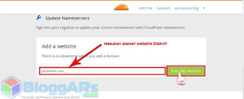 Cara Menambahkan website untuk SSL Gratis Cloudflare