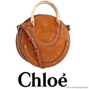 Meghan Markle carried Chloé Pixie suede shoulder bag