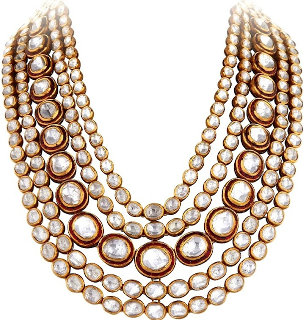 Entice Taraash Kundan Polki Long Necklace with Rubies