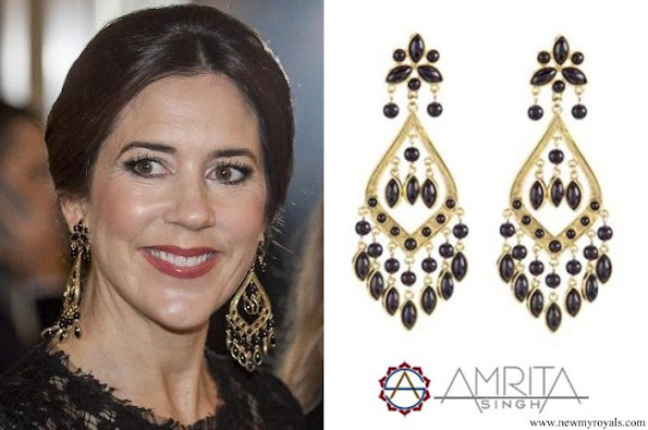 Crown Princess Mary Amrita Singh Shabana Pearl Earring