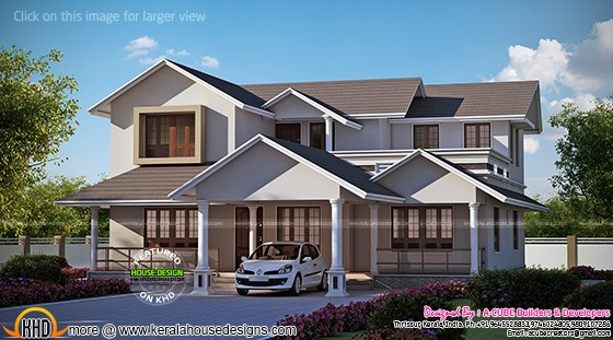 Ash roof house design
