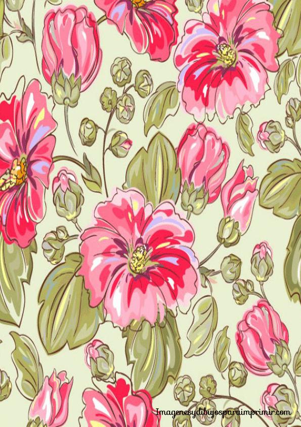 Papel con flores para imprimir imagenes y dibujos para - Dibujos en colores para imprimir ...