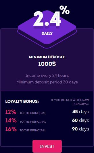 Инвестиционные планы Vitrade 3