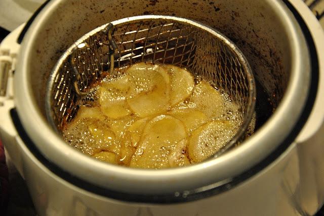 Kartoffelspiralen frittieren