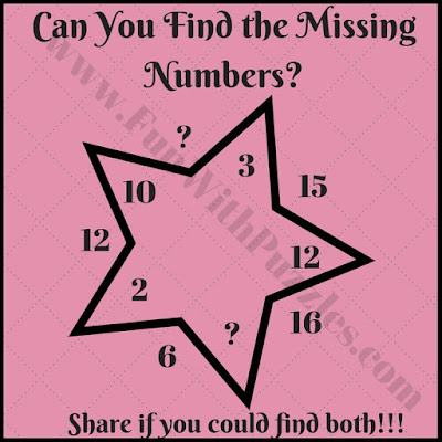 Simple math star picture puzzle question