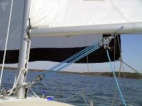 Bir yelken altındaki iskota donanımı