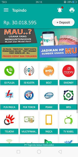 Tampilan Login Aplikasi ANdroid Topindo SOusi Komunika