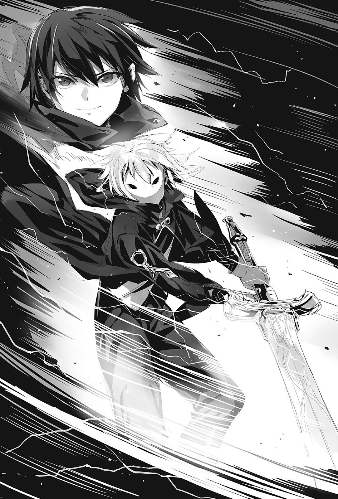 Death March to the Parallel World Rhapsody Ilustrações Lightnovel Volume 01 Zena Marientail e Satou Pendragon